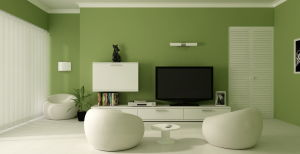 Awesome-design-green-paint-color-luxurious-living-room