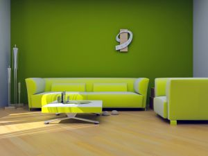 Modern-green-interior-living-room-design-with-dark-green-wall-color-and-brown-modern-wooden-floo