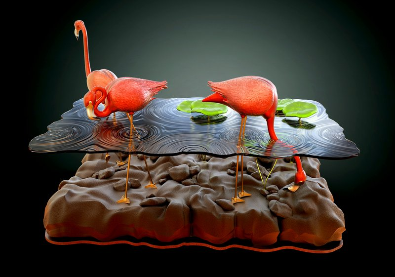 Beautiful-Table-Concept-Like-Flamingos-in-A-Pond